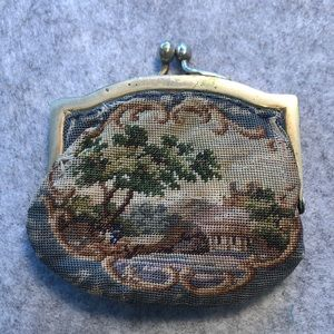Vintage Needle  Point Coin Purse